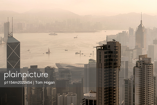 Hong Kong Skyline Number 3 - p1154m2022454 by Tom Hogan
