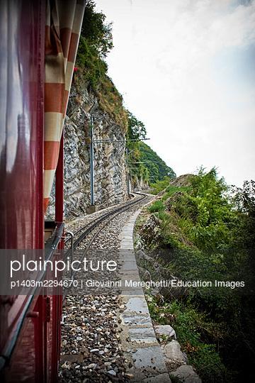 Switzerland, Canton Ticino, Monte Generoso Railway, steam train - p1403m2294670 by Giovanni Mereghetti/Education Images