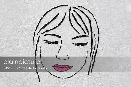 Gesticktes Gesicht      - p450m1477135 von Hanka Steidle