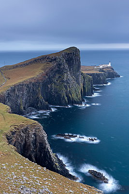 Neist Point Lighthouse, the most westerly point on the Isle of Skye, Inner Hebrides, Scotland, United Kingdom, Europe - p871m962083 by Adam Burton