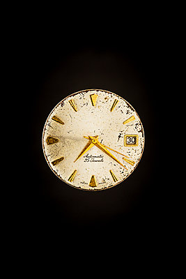 old and worn mechanical watch face - p1302m2273402 by Richard Nixon