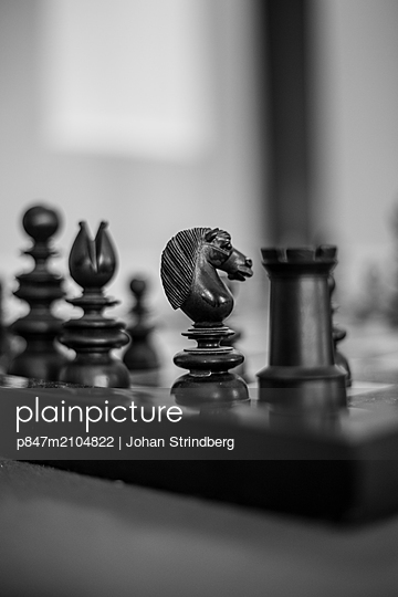 Chess And Chess Pieces   - p847m2104822 by Johan Strindberg