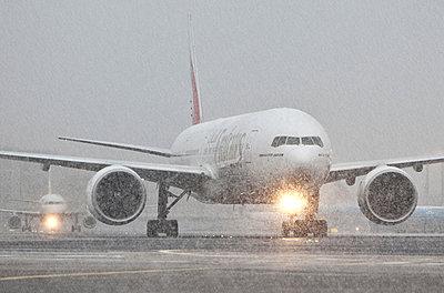 Airplane in winter - p1250m1051140 by werner bartsch