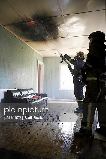 Firemen, fire drill