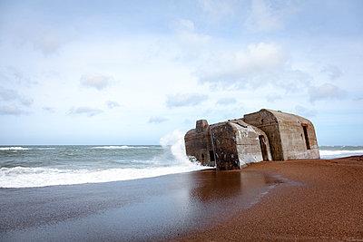 Bunker an der Küste von Jütland - p1168m1040707 von Thomas Günther