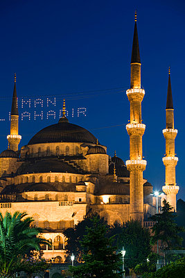 Blue mosque at ramadan - p9248691f by Image Source