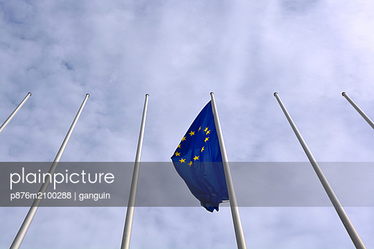 flag of Europe - p876m2100288 by ganguin
