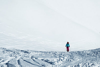 Switzerland, Grand Saint Bernard Pass, Pain de Sucre, Mont Fourchon, ski touring in the mountains - p300m2083135 by Alun Richardson