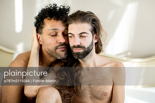 Gay couple - p787m2115244 by Forster-Martin