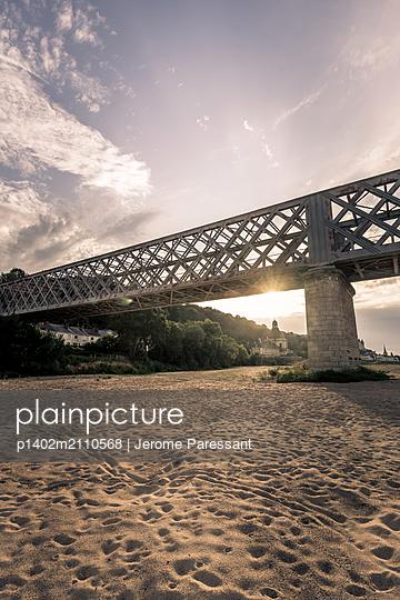 The Saumur Railway Bridge - p1402m2110568 by Jerome Paressant