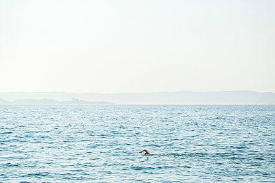 Swimming in the Mediterranean Sea - p1113m1215021 by Colas Declercq