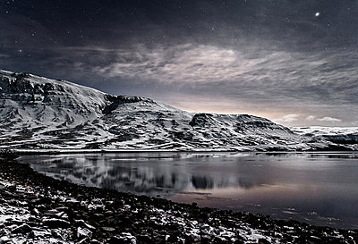 Hvalfjordur at wintertime, Iceland - p1084m832871 by Operation XZ
