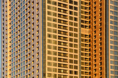 Golden appartment block - p1048m1512712 by Mark Wagner
