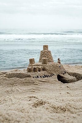 Sandcastle at the seaside - p1248m2172163 by miguel sobreira