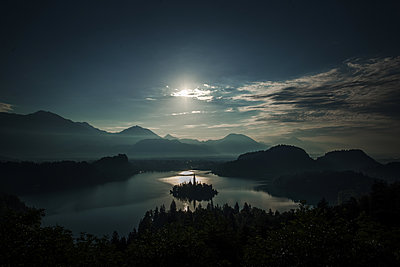 Early morning sunrise at Lake Bled - p1455m2043695 by Ingmar Wein