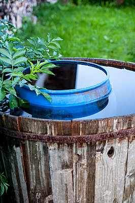 Rain barrel - p1466m1563728 by Stefanie Giesder