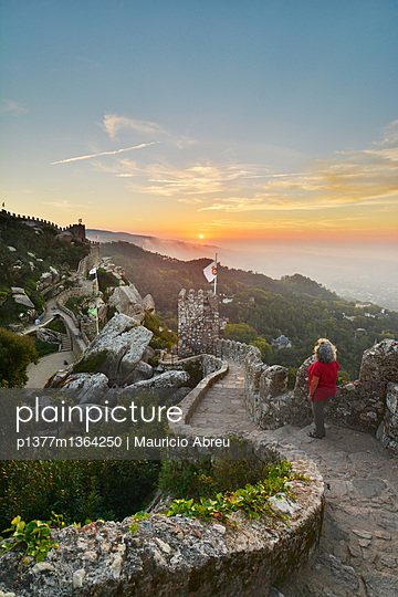 Ramparts of the Castelo dos Mouros, Castle of the Moors - p1377m1364250 by Mauricio Abreu photography