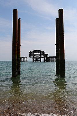 Brighton West Pier 2 - p1289m1159552 by Elisabeth Blanchet