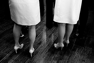 Abstract of two brides legs and feet - p6860038 by Paul Tait