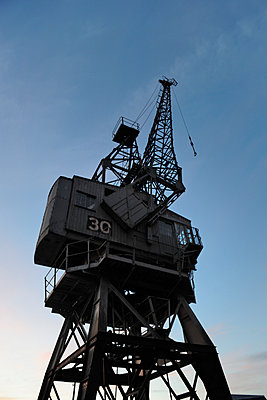 Historic maritime crane - p1048m1080129 by Mark Wagner