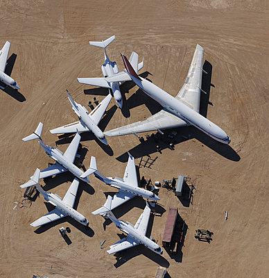 Mixed jet scrap - p1048m1058621 by Mark Wagner