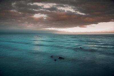 Ireland, Sea and horizon - p1681m2263283 by Juan Alfonso Solis