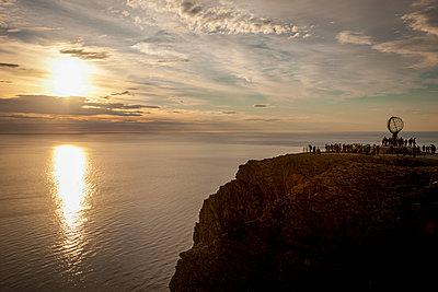Midnight sun at North Cape - p382m2254523 by Anna Matzen