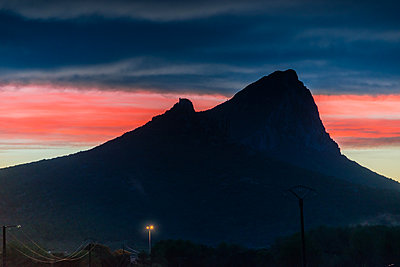 Afterglow at Pic Saint-Loup - p829m972338 by Régis Domergue
