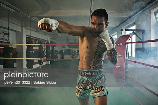 Boxer im Ring  - p979m2013322 von Sabine Skiba
