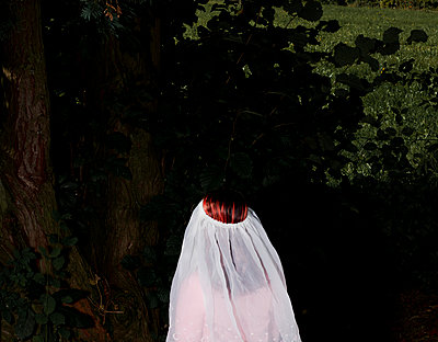 Red-haired woman wearing veil - p1279m2133574 by Ulrike Piringer