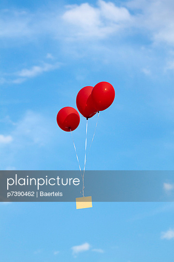 Luftballon mit Karte - p7390462 von Baertels