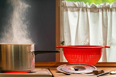 Steaming pot  - p1418m1571870 by Jan Håkan Dahlström