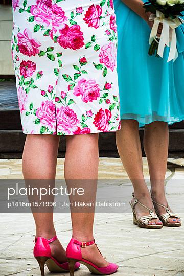 Legs of two well-dressed women - p1418m1571996 by Jan Håkan Dahlström