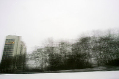 Passing building and trees - p388m701958 by Andre