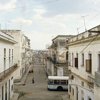 Street in Havana - p7660022 by Natalie Kriwy