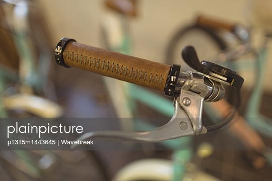 Close up of vintage bicycle handlebar