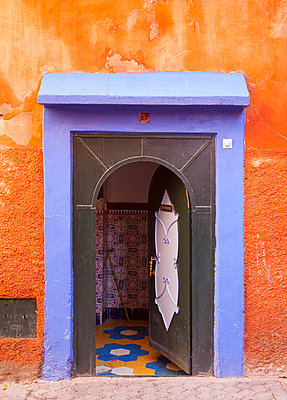 Colorful ornate doorway - p429m768791f by Henglein and Steets