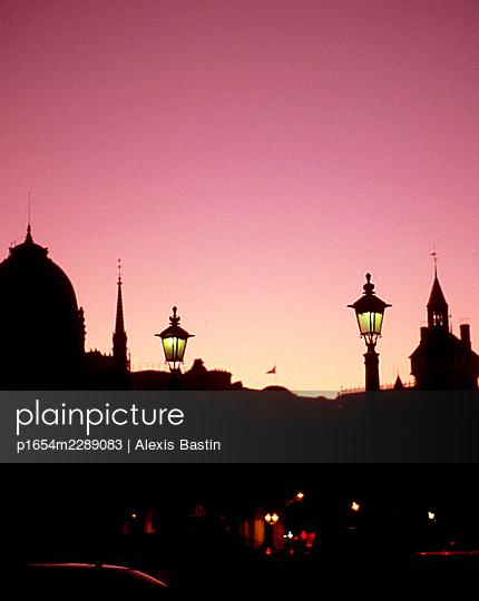 Paris, sunset - p1654m2289083 by Alexis Bastin