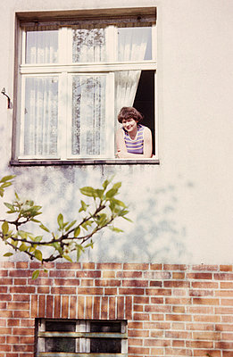Looking out of the window - p986m734808 by Friedrich Kayser