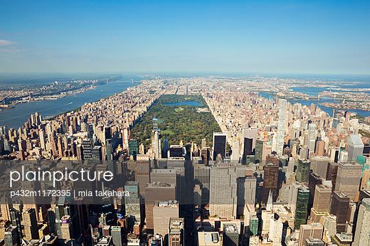 New York aus der Luft - p432m1172395 von mia takahara