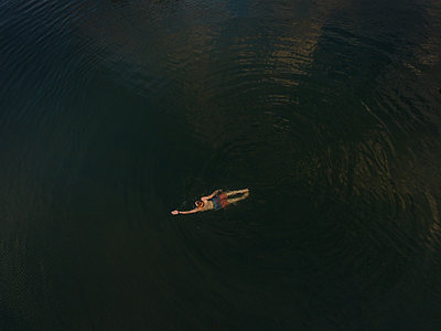 Kayak from Above - p1503m2015883 by Deb Schwedhelm