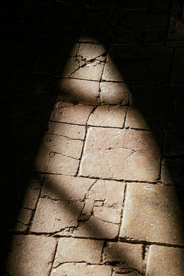 Stone floor of an old church in Vrsar - p728m2027229 by Peter Nitsch