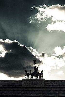 Brandenburg Gate, Berlin, Germay - p1062m1172183 by Viviana Falcomer