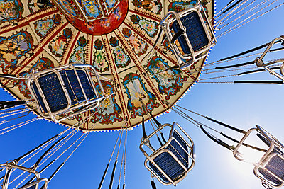 Swing Ride at the Fair - p1100m2090946 by Mint Images