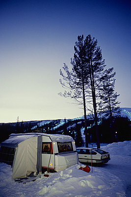 Camping in winter - p1418m1571414 by Jan Håkan Dahlström