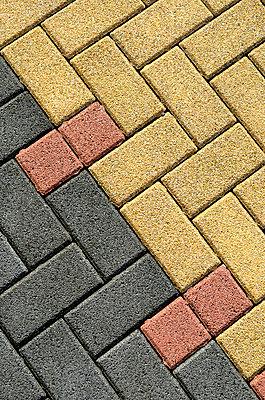 Colourful paving stones - p196m984800 by Dietmar Plewka