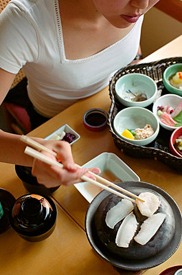 Tray of seven small dishes served at lunch in Miyazu Japan - p3490004 by Brent Darby