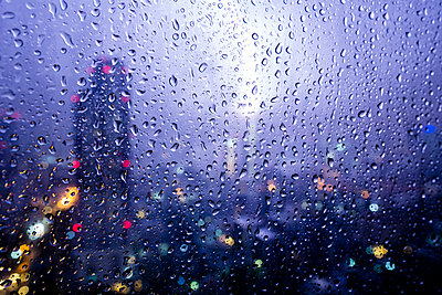 Raindrops on Window  - p669m1520586 by Lee Irvine