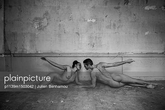 Naked couple on the floor - p1139m1503042 by Julien Benhamou