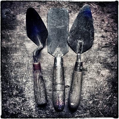 A Carpenters Trowels - p1154m1057824 by Tom Hogan
